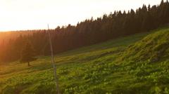 Beautiful Sunset Over the Krkonose Mountain Stock Footage