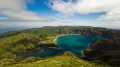 Timelapse of the Fogo lake in Sao Miguel, Azores islands, Portugal. Stock Footage