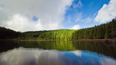 Timelapse of the Lagoa do Canario in the island of Sao Miguel, Azores, Portugal. Stock Footage