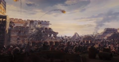Fall of Constantinople - stock footage
