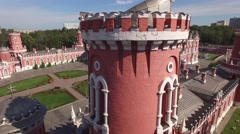 Peter's Palace in Moscow. Famous historic landmark. Old Russian architecture. Un Stock Footage