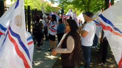 Assyrians rally and protest in Washington, D.C.  Stock Footage