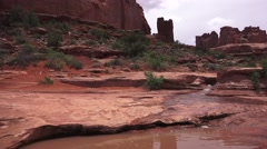 ARCHES NATIONAL PARK, Wind, Water and sun Stock Footage