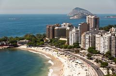 Copacabana District in Rio de Janeiro Stock Photos