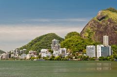 Lagoon of Rio de Janeiro Stock Photos