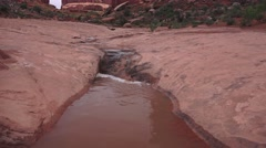 Time, Wind, Rain, and red sandstone Stock Footage