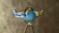 Airplanes Circle the Globe, Air Travel - stock footage