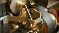 Old 8mm film projector for home, details - stock footage