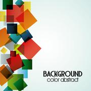 Multicolored background with abstract shapes, vector illustration Stock Illustration