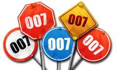 007, 3D rendering, street signs Piirros