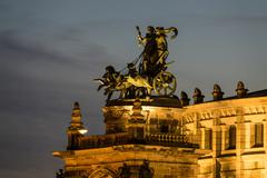Quadriga on the Semperoper in Dresden - stock photo