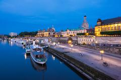 View to the old town of Dresden - stock photo