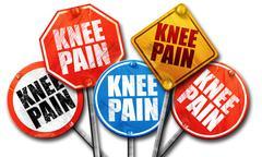 Knee pain, 3D rendering, street signs Piirros