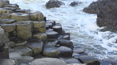 The Giant's Causeway in Antrim, Northern Ireland, UK Stock Footage