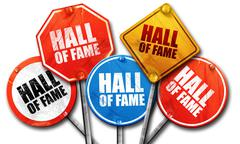 Hall of fame, 3D rendering, street signs Stock Illustration
