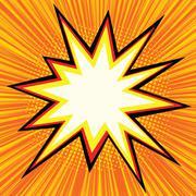 Explosion comics bubble Stock Illustration