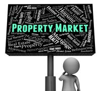 Property Market Meaning Real Estate And Offices - stock illustration