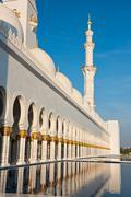 Sheikh Zayed White Mosque in Abu Dhabi, UAE - stock photo