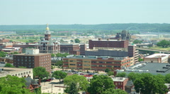 Dubuque, Iowa City Scape Looking North-East 4k Stock Footage