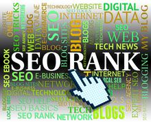 Seo Rank Showing Web Site And Www - stock illustration