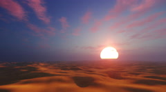 Dramatic sunset in african desert 4K Stock Footage