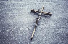 Crucifix, jesus christ on the cross - stock photo