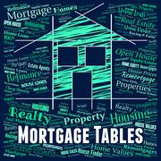 Mortgage Tables Representing Home Loan And Interest Stock Illustration