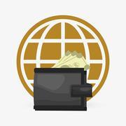 Money design. Financial item icon. White background, isolated illustartion Stock Illustration