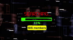 Isis members search online Stock Footage