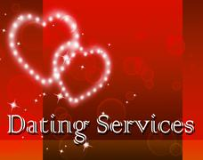 Dating Services Indicating Net Sweetheart And Assistance - stock illustration