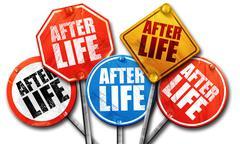 Afterlife, 3D rendering, street signs Stock Illustration