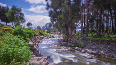 Cuenca, Ecuador. River view. Background. 4k time lapse - stock footage