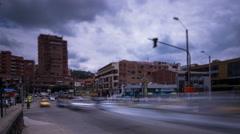 Cuenca, Ecuador. Traffic. 4k time lapse - stock footage