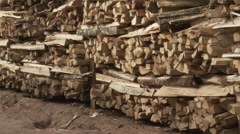 Cameroon Pottery, tilt up for ready firewood Stock Footage