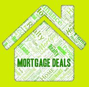 Mortgage Deals Representing Real Estate And Homes - stock illustration