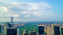 The Central Park and modern buildings were looking from Rockefeller Center, NYC, Stock Footage