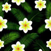 Vector Illustration of floral seamless pattern Stock Illustration