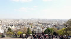 Panoramic view of Montmarte and Paris - stock footage