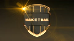 Basketball - Orange, Seamless looping 3D animation Stock Footage