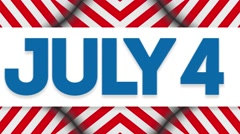 Fourth of July Animation - stock footage