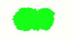 Green screen spill on white background Stock Footage