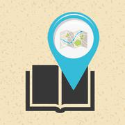 location of place on the map design - stock illustration