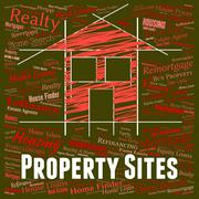 Property Sites Meaning Real Estate And Residence Stock Illustration
