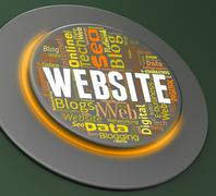 Website Button Showing Control Online And Www Stock Illustration