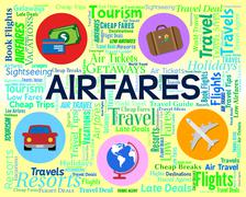 Airfares Word Meaning Current Prices And Sale Stock Illustration