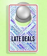 Late Deals Showing Last Moment And Getaway - stock illustration