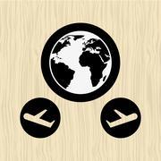 Global positioning system design Stock Illustration