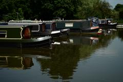 stratford and grand union canal junction lapworth uk - stock photo