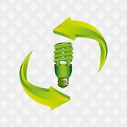 energy saving  design - stock illustration
