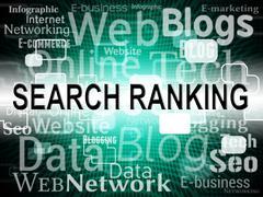 Search Ranking Representing Searches Position And Comparison - stock illustration